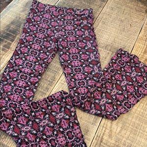 LA Hearts boho flare leggings, XS